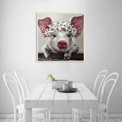 Canvas Painting Pig Big Ears Picture Art Poster Wall Living Room Office Decor US $6.79
