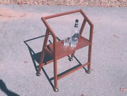 mid century Danish Modern BAR CART drink trolley COOL $150.00