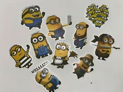 Novelty KIDS Loose Sticker LOT 10ct NEW Free Ship CUTE Journaling MINIONS $2.55