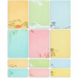 Japanese Stationery Paper and Envelopes 7.25 x 10.25 In 60 Pack $11.99