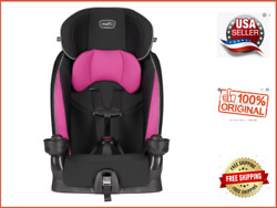 Evenflo Booster Car Seat Chase Lx Jayden Pink Harnessed Flash SALE $59.99