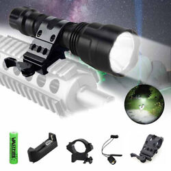 5000LM Hunting Lamp Torch Tactical LED Flashlight Rifle Mount Gun Remote Switch $16.99
