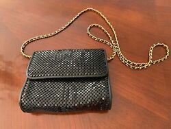 Whiting And Davis Black Evening Purse