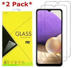 2 Pack Premium Real Tempered Glass Screen Protector for SAMSUNG Galaxy A32 5G $3.95