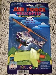 Air Force Helicopter Air Police Toy Helicopter With Power Launcher Soft Foam NIP $12.00