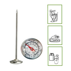 127mm Lightweight Compost Soil Dial Display Stainless Steel Portable Thermometer $8.45