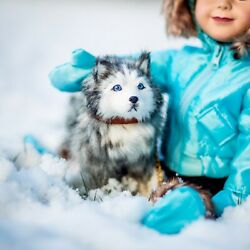 The Queen#x27;s Treasures HUSKY PUPPY DOG Accessory Pet For 18quot; American Girl Dolls $21.55