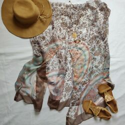 Beach Cover Up Brown Flower Design $3.00