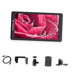 F570 5.7 Inch On Camera Field DSLR Monitor Small HD Focus Video Assis 4K HDMI $277.68