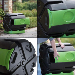 FCMP Outdoor 37 Gallon Chamber Quick Curing Rolling Compost Tumbler Bin for Soil $94.99