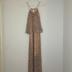 Hamp;M Conscious Womens Size 4 Long Pink Floral Dress $12.00