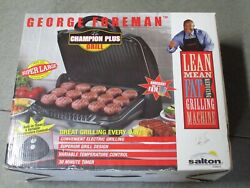 NEW George Foreman Super Large Double Champion Plus Grill Model #GGR615 $229.99