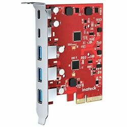 Inateck PCIe to USB 3.2 Gen 2 Card with 20 Gbps Bandwidth 3 USB Type A and 2 US $59.22