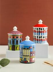 Jewelry Storage Box Candle Holder Roman Tower Ceramic Bin Crafts Home Container $42.99