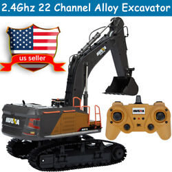 Rechargeable 2.4Ghz 22 Channel Alloy 1:14 Large RC Mini Excavator Electric Toys $89.88