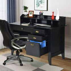 Computer Desk PC Laptop Table w 4 Drawer Home Office Study Workstation 2Colors $129.99