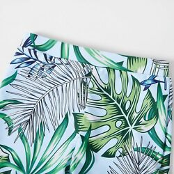 Ruffle Off Shoulder Top amp; Leaf Print Shorts For Summer Family Matching Swimsuits $27.39