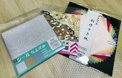 Daiso CHIYOGAMI Japanese paper 3packs Seal ChiyogamiGold silver handmade new $9.80