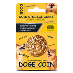 Dogecoin DOGE Cold Storage Coin Crypto 1oz Fine Copper Retail Packaging $23.05