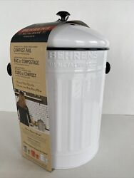 BEHRENS 1.5 Gallon Galvanized Steel Compost Pail 2 Filters NEW $49.99