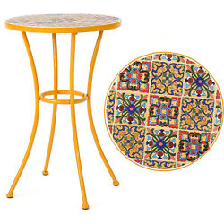 Small Outdoor Table Furniture Side End Accent Patio Round Garden Iron Multicolor $79.99