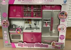 New My Modern Kitchen Full Deluxe Kit Battery Operated Kitchen Playset. Pink $33.50