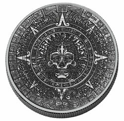 Cursed 1 oz Silver Aztec Round Antique Finish GEM BU PRESALE $62.95
