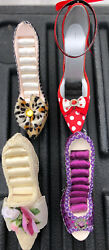 """Lot Of 4 Novelty High Heel Shoe Jewelry Ring Storage Display Stand Holder 5"""" $34.99"""