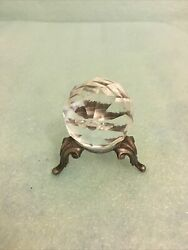 vintage crystal figure round bug with stand $25.00