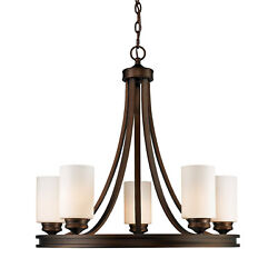 Golden Lighting 1051 5 OP Hidalgo 5 Light Candle Style Chandelier Bronze $282.00