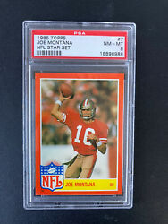 1985 Topps NFL Star Set #7 Joe Montana 49ers PSA 8 $44.99