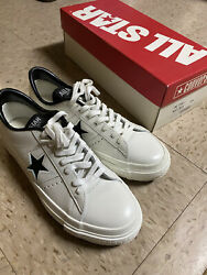 "NIB CONVERSE ONE STAR WHITE BLACK ""MADE IN JAPAN"" Sneakers Size 7.5 RARE NEW $149.99"