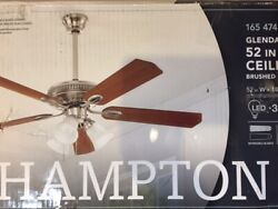 Replacement Parts Hampton Bay Glendale 52 in Brushed Nickel Ceiling Fan $27.95