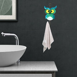 3pcs Colorful Gift Clothes Hanging Cute Owl Home Decor Wall Hook Bag Robe $16.85