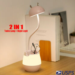 Dimmable LED Desk Light Night Light Table Bedside Reading Lamp Touch Recharge $15.83
