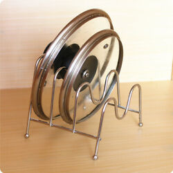 Storage Iron Structure Drying Practical Kitchen Holder Multilayer Pot Lids Rack $14.77