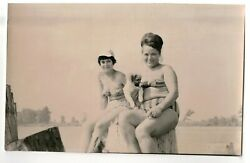 1970s nude women and dog beach portrait people fashion Russian Vintage photo n $2.99