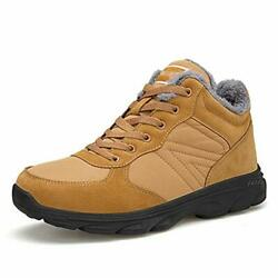 UPSOLO Mens Winter Trekking Snow Boots Water Resistant Shoes Yellow Size 9.0 $45.60