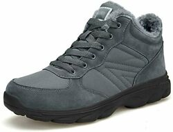UPSOLO Mens Winter Trekking Snow Boots Water Resistant Shoes Grey Size 8.5 $30.00