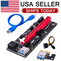 VER009S PCI E Riser Card Adapter PCIe 1x to16x USB 3.0 Data Cable Bitcoin Mining $8.99