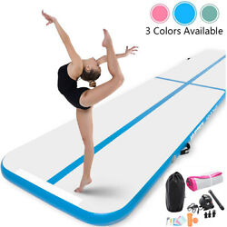 High Quality 10ft 13ft 16ft Inflatable Gymnastics Air Track Tumbling Mat w Pump $59.99