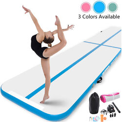High Quality 10ft 13ft 16ft Inflatable Gymnastics Air Track Tumbling Mat w Pump $129.99