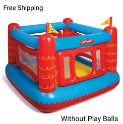 Fisher Price Bouncetastic Bounce House in Red amp; Blue Without Play Balls. $50.00