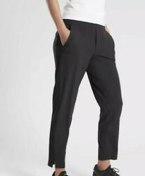 ATHLETA Brooklyn Ankle Lightweight Travel Pant Black Women Size 10 NWT