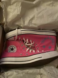 New Converse Chuck Taylor All Star Hi — Pink White — Size 12 mens 14 womens $29.99