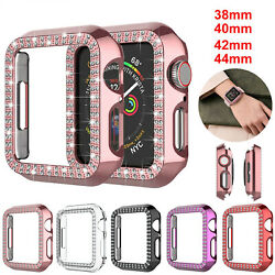 Apple Watch Series 6 5 4 SE 3 2 Bling Screen Protector Case 44 40 42 38mm Cover $5.95