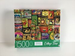 Milton Bradley Antique Advertising 1500 Piece Jigsaw Puzzle Collage Time New $21.99