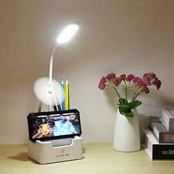 Rechargeable LED Desk Lamp Touch Table Dimmable Night Light Bedroom Reading $12.19