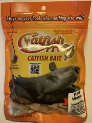 Catfish Pro Red Worms Catfish Bait Catches Blues Channels Bullheads Flatheads $9.85