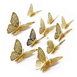 FOMTOR 3D Butterfly Wall Stickers Butterfly Wall Decals for Home Decor DIY Room $12.22